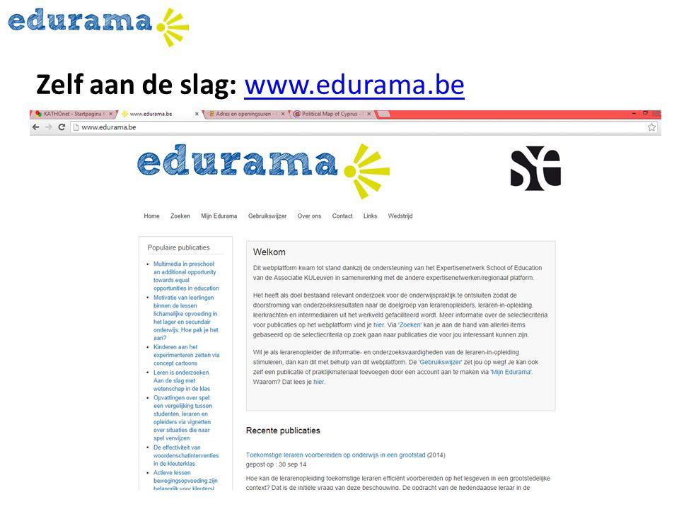 Zelf aan de slag: www.edurama.bewww.edurama.be