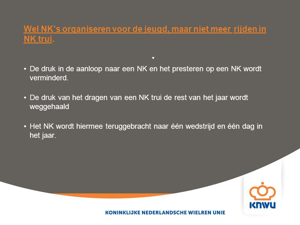 Wel NK's organiseren voor de jeugd, maar niet meer rijden in NK trui.