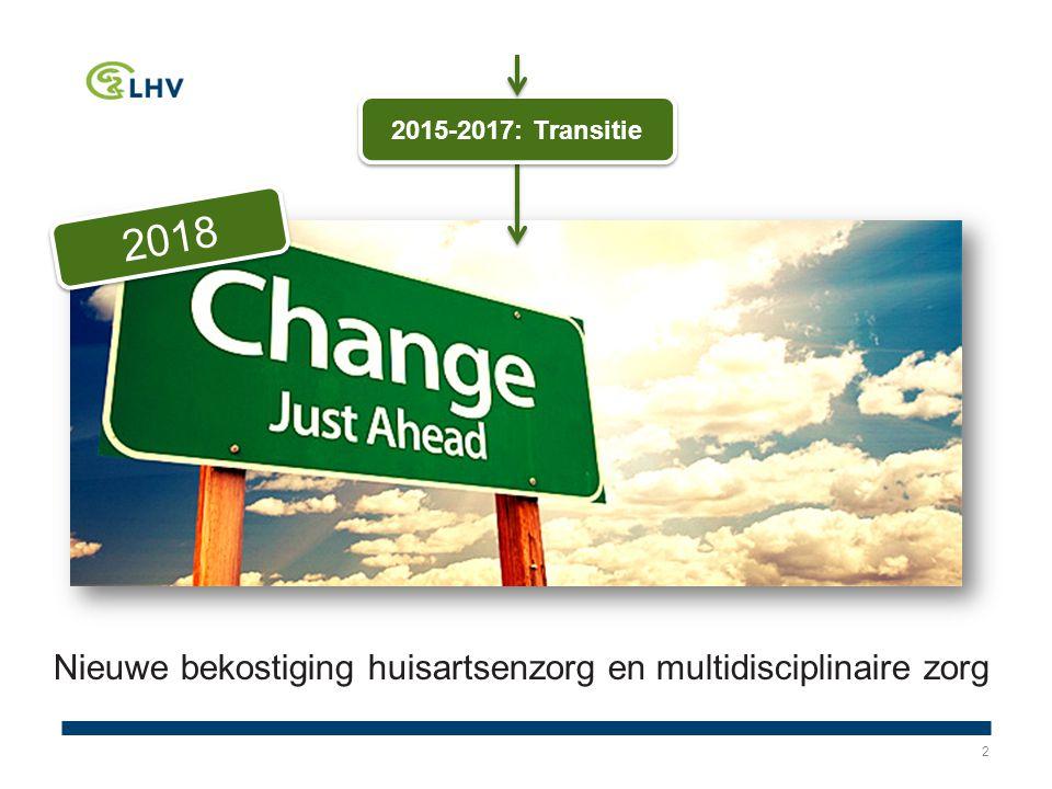 2 2018 2015-2017: Transitie Nieuwe bekostiging huisartsenzorg en multidisciplinaire zorg