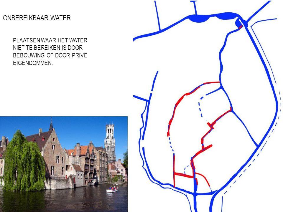 ONBEREIKBAAR WATER PLAATSEN WAAR HET WATER NIET TE BEREIKEN IS DOOR BEBOUWING OF DOOR PRIVE EIGENDOMMEN.