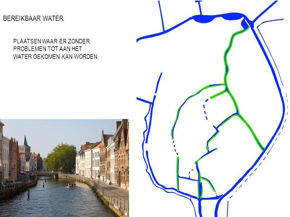 BEREIKBAAR WATER PLAATSEN WAAR ER ZONDER PROBLEMEN TOT AAN HET WATER GEKOMEN KAN WORDEN.