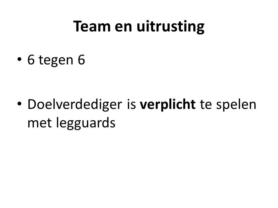 Team en uitrusting 6 tegen 6 Doelverdediger is verplicht te spelen met legguards