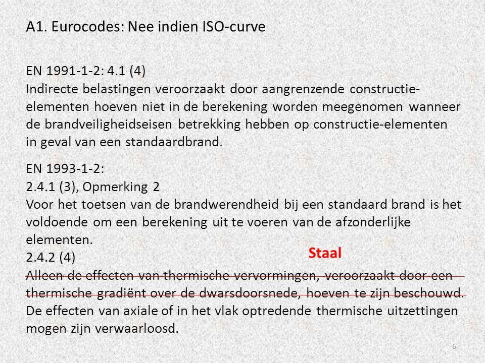 6 EN 1991-1-2: 4.1 (4) Indirecte belastingen veroorzaakt door aangrenzende constructie- elementen hoeven niet in de berekening worden meegenomen wanne