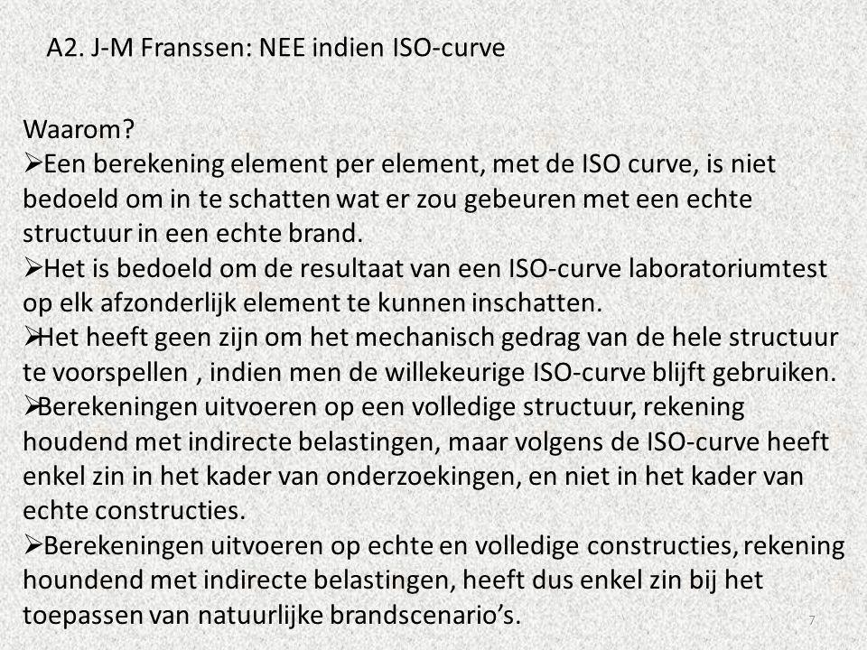 7 A2. J-M Franssen: NEE indien ISO-curve Waarom?  Een berekening element per element, met de ISO curve, is niet bedoeld om in te schatten wat er zou