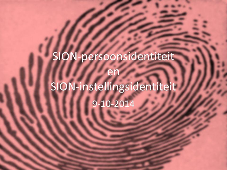 SION-persoonsidentiteit en SION-instellingsidentiteit 9-10-2014