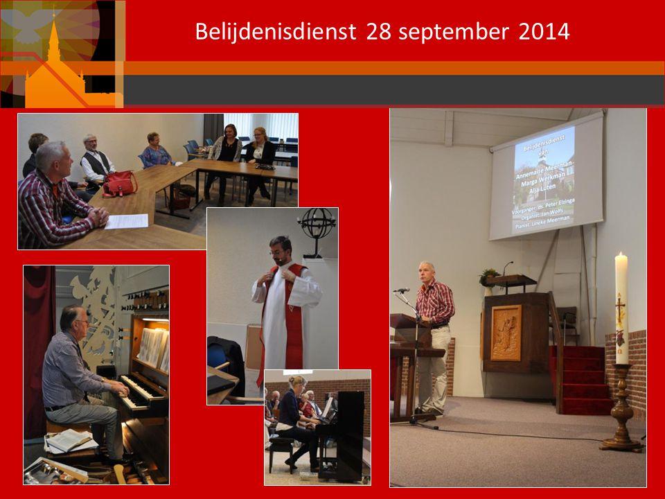 Belijdenisdienst 28 september 2014