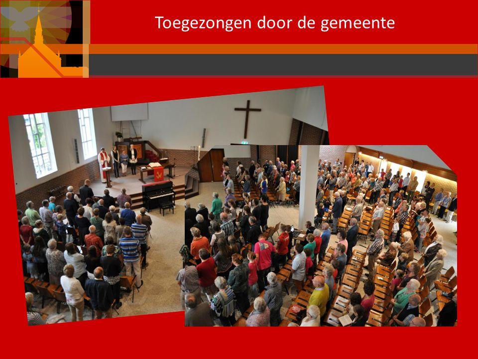 Toegezongen door de gemeente