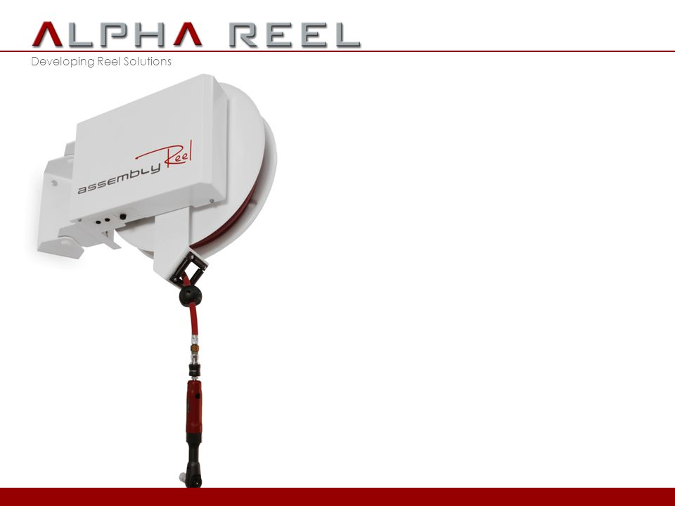 Developing Reel Solutions 2012 © ALPHA REEL bvba Derde Generatie Slanghaspels