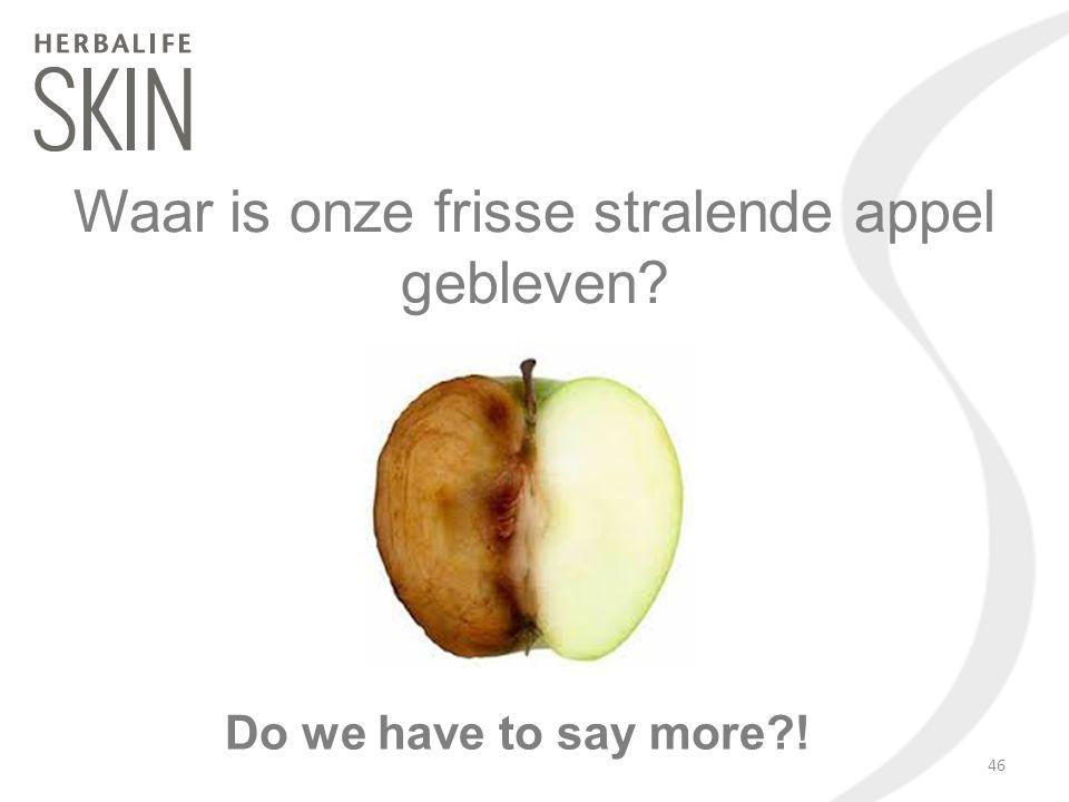 Do we have to say more?! Waar is onze frisse stralende appel gebleven? 46