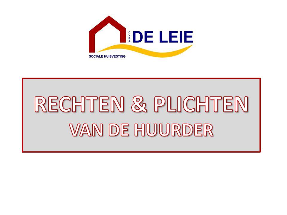 Hierna volgt een samenvatting van de belangrijkste rechten en plichten van de huurder van een sociale woning.