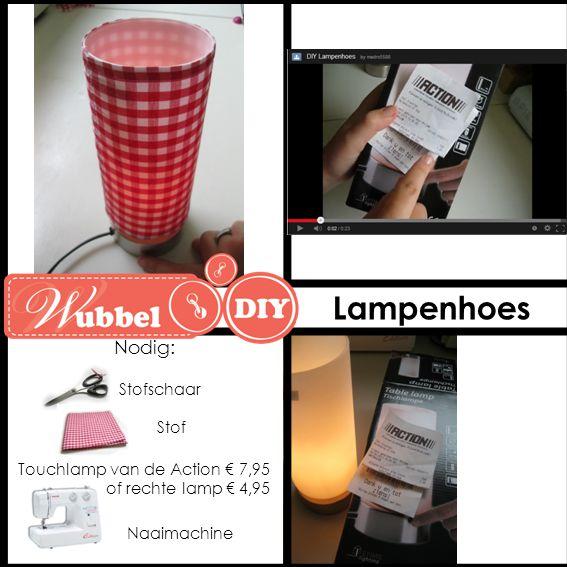 Lampenhoes Nodig: Naaimachine Stofschaar Stof Touchlamp van de Action € 7,95 of rechte lamp € 4,95
