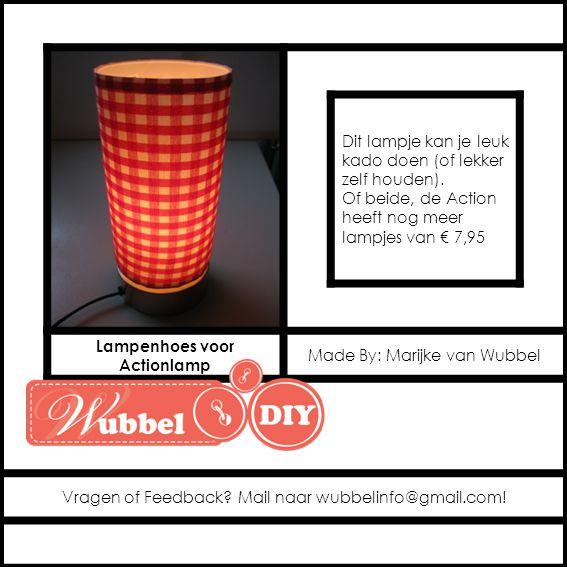 Dit lampje kan je leuk kado doen (of lekker zelf houden). Of beide, de Action heeft nog meer lampjes van € 7,95 Lampenhoes voor Actionlamp Made By: Ma