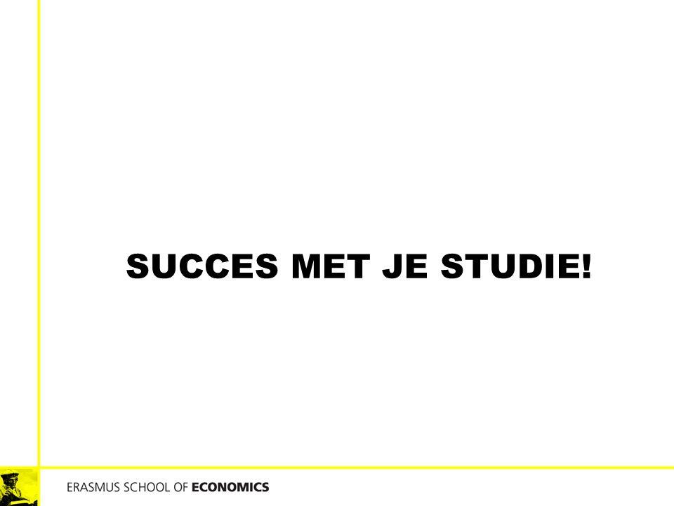 SUCCES MET JE STUDIE!
