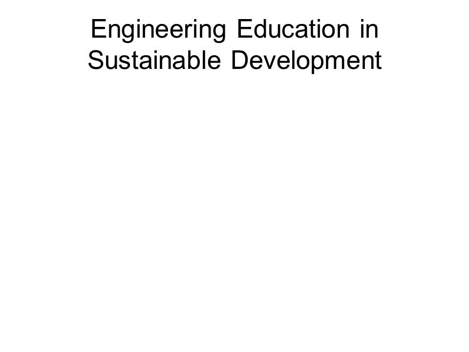 MEMO, Conferentie 'Engineering in Sustainable Development' in 2002 .
