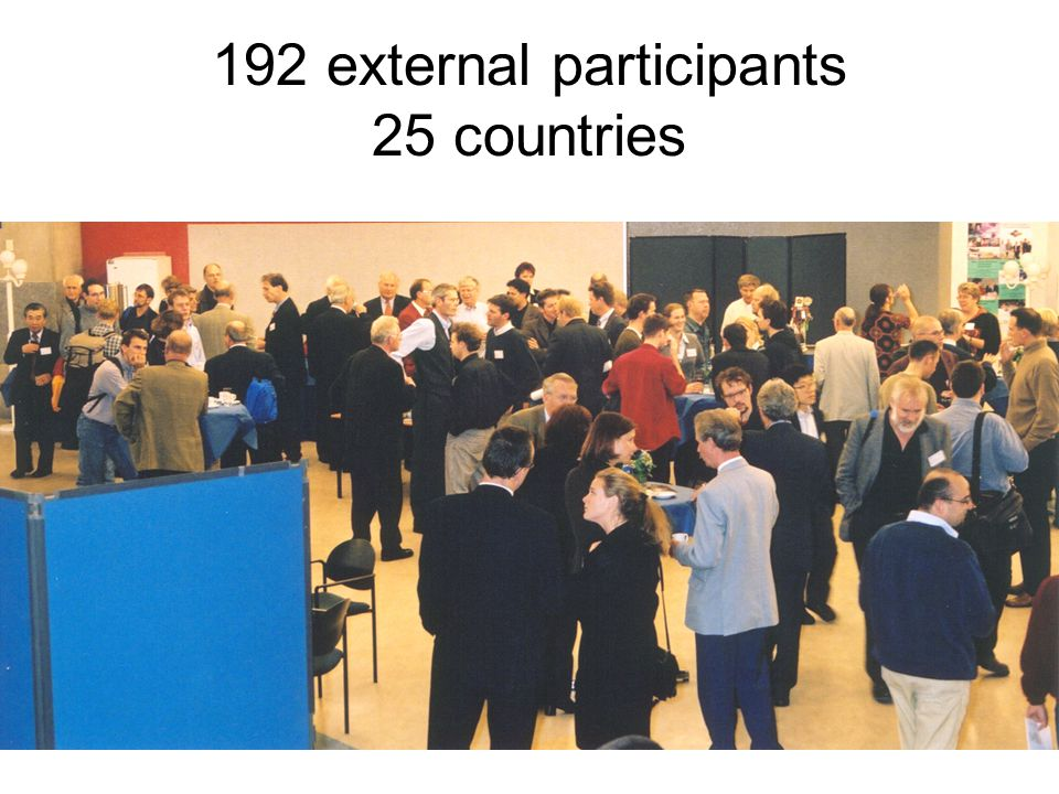 192 external participants 25 countries