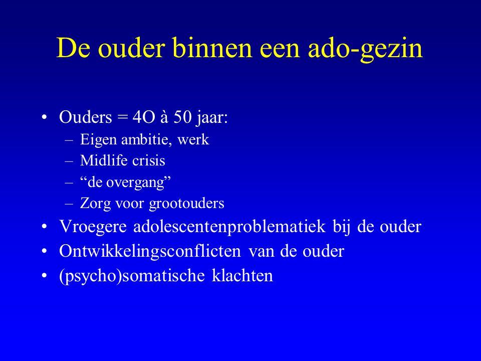 Bipolaire stoornis Combinatie van Depressie + (hypo) manie <14 jaar begint 8 % van de bipol.