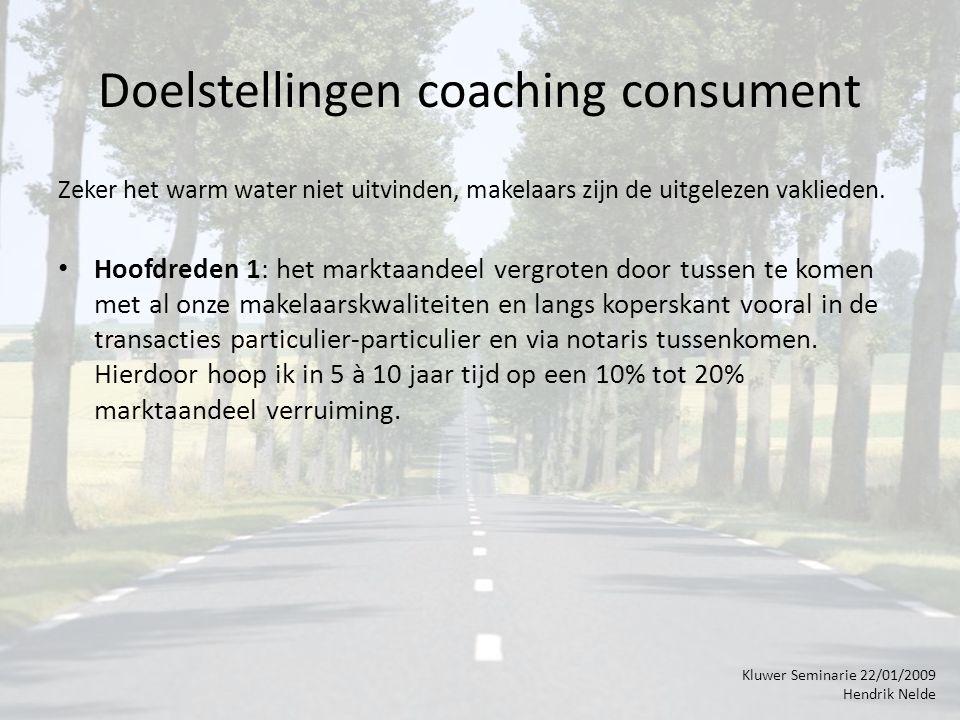 Doelstellingen coaching consument Zeker het warm water niet uitvinden, makelaars zijn de uitgelezen vaklieden.