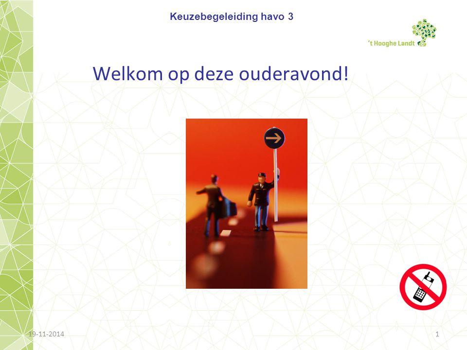 Even voorstellen Naam: Katja Nieuwland Taak: decaan havo verder: docente Frans k.nieuwland@hooghelandt.nl Decanenkamer B 006 PH