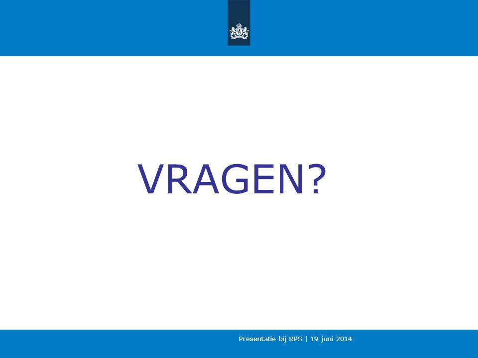 Presentatie bij RPS | 19 juni 2014 VRAGEN?