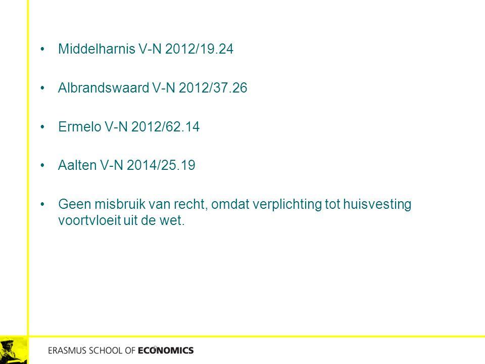 Middelharnis V-N 2012/19.24 Albrandswaard V-N 2012/37.26 Ermelo V-N 2012/62.14 Aalten V-N 2014/25.19 Geen misbruik van recht, omdat verplichting tot h