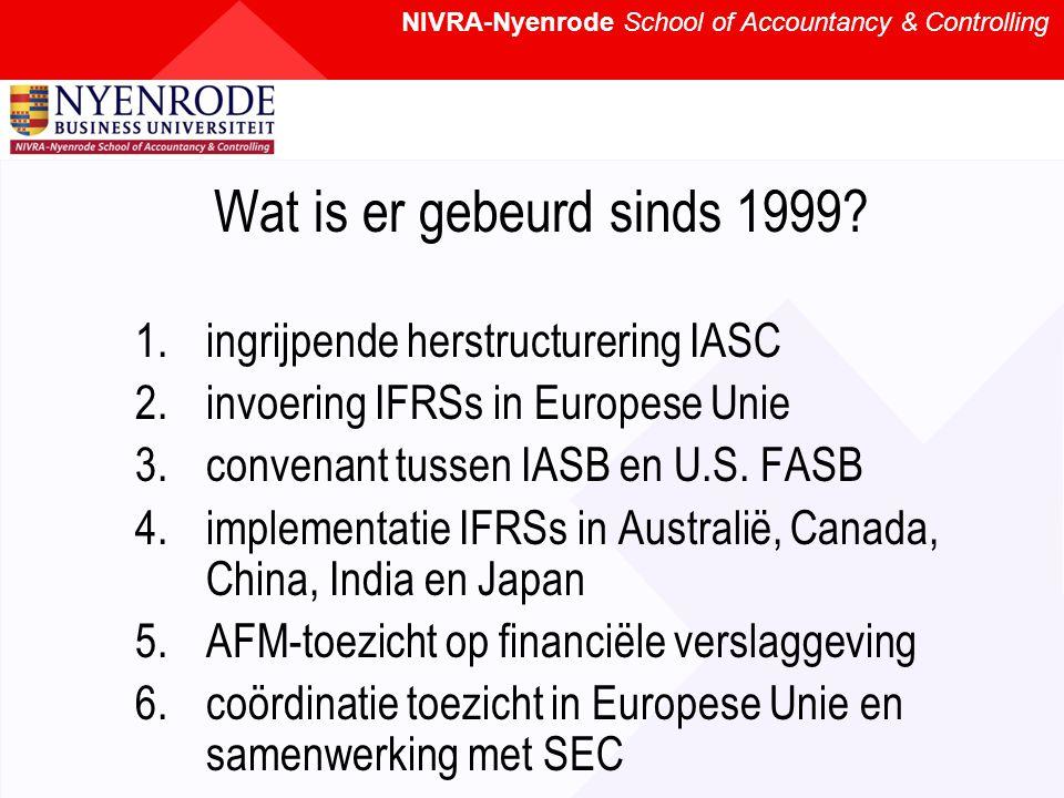 Wat is er gebeurd sinds 1999.