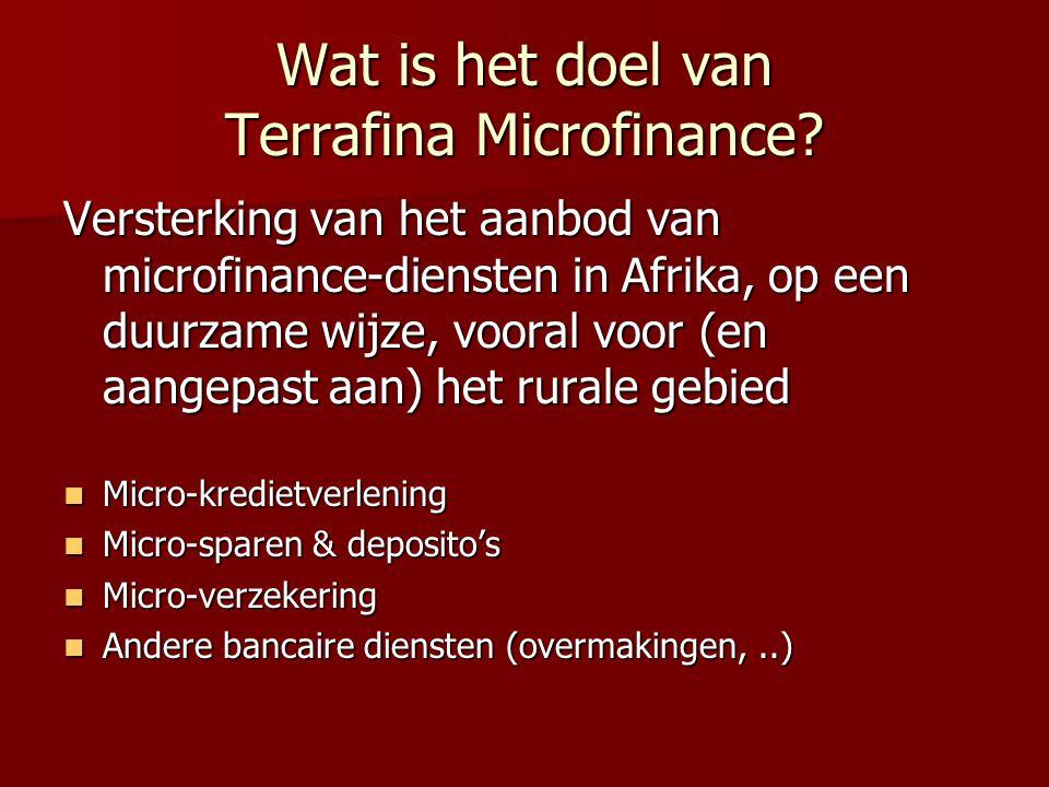 Wat is het doel van Terrafina Microfinance.