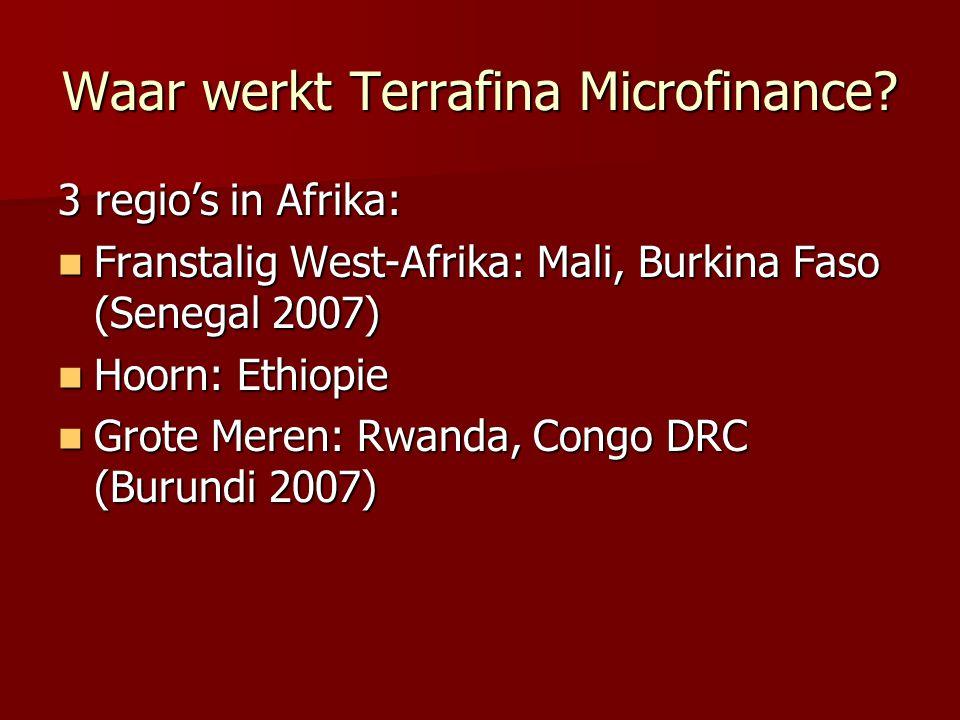 Waar werkt Terrafina Microfinance.