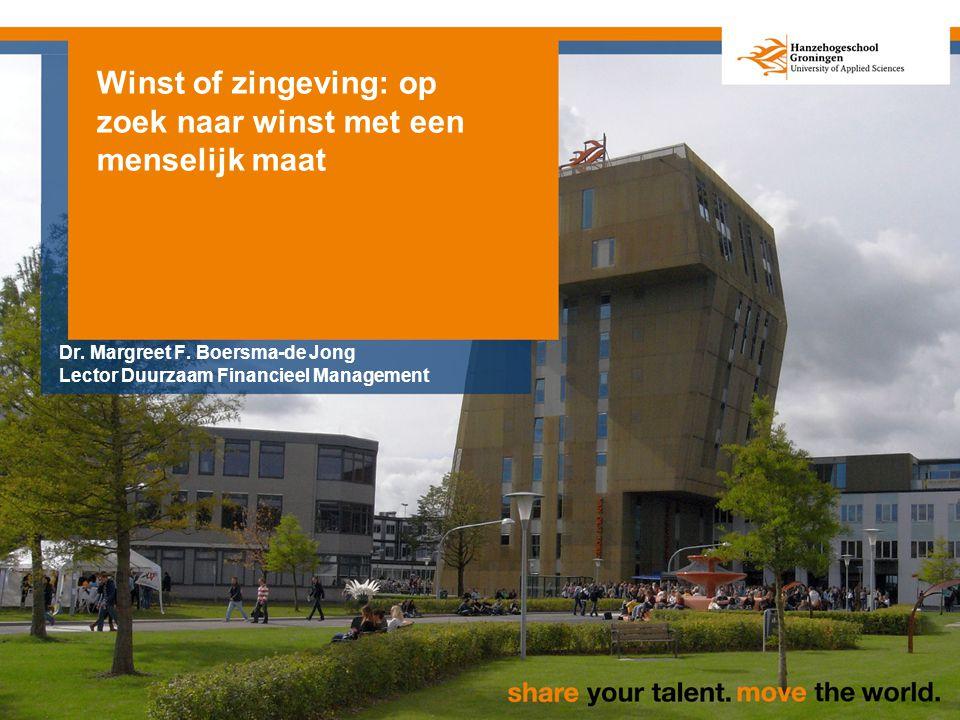 Winst of zingeving: op zoek naar winst met een menselijk maat Dr.