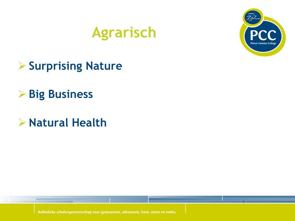 Agrarisch  Surprising Nature  Big Business  Natural Health