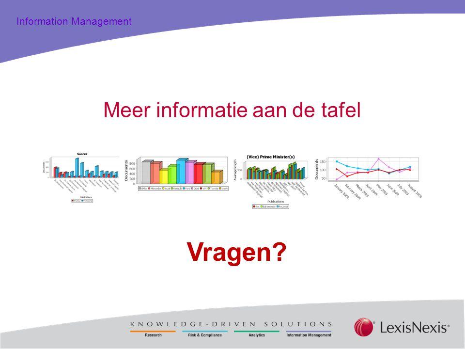 Total Practice Solutions Information Management Meer informatie aan de tafel Vragen?
