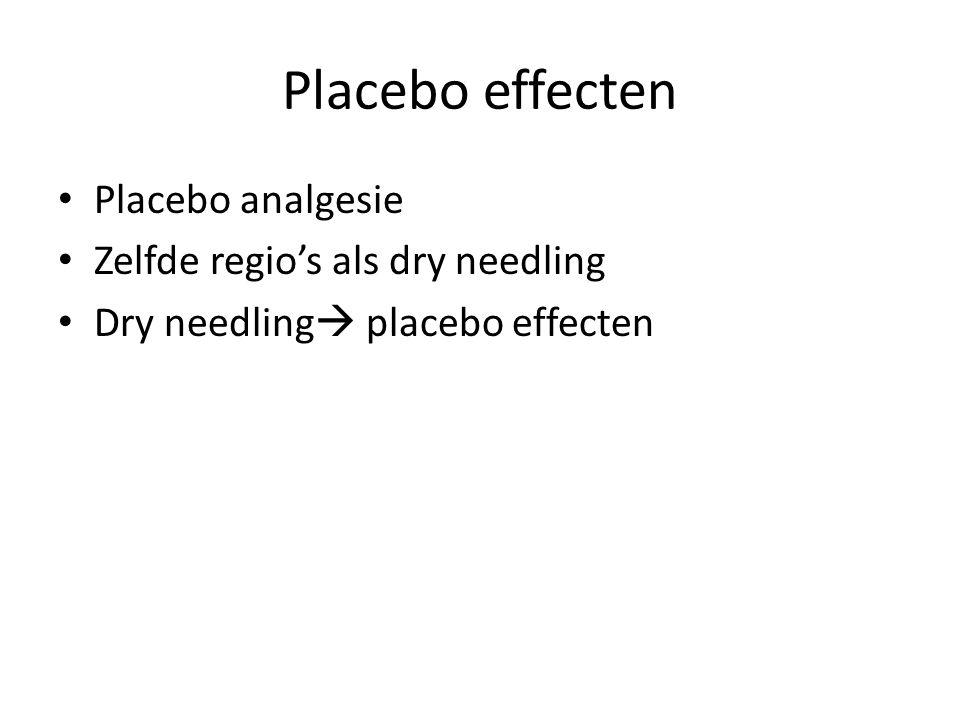 Placebo effecten Placebo analgesie Zelfde regio's als dry needling Dry needling  placebo effecten