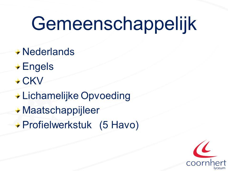 Gemeenschappelijk Nederlands Engels CKV Lichamelijke Opvoeding Maatschappijleer Profielwerkstuk (5 Havo)