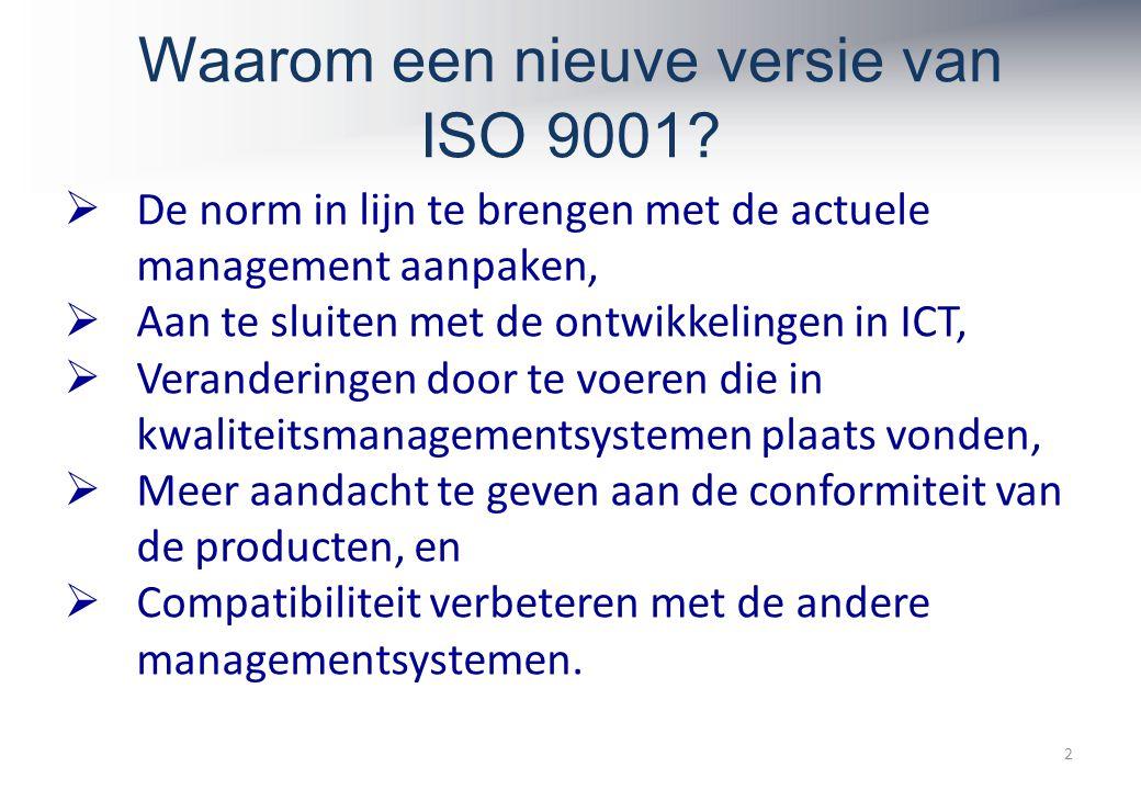 Waarom een nieuve versie van ISO 9001.