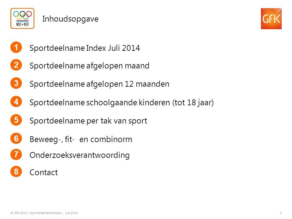 © GfK 2014 | Sportdeelname Index | Juli 2014 3 1.