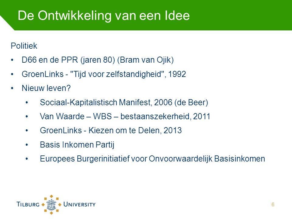 De Ontwikkeling van een Idee Politiek D66 en de PPR (jaren 80) (Bram van Ojik) GroenLinks -