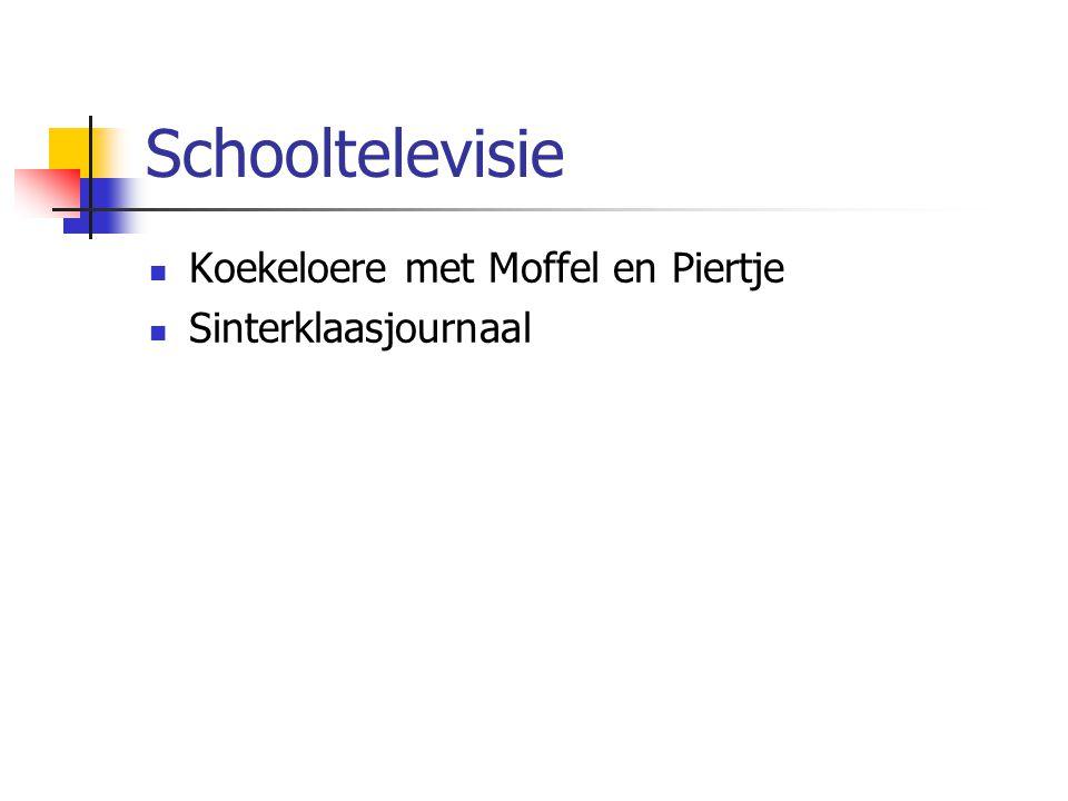 Schooltelevisie Koekeloere met Moffel en Piertje Sinterklaasjournaal