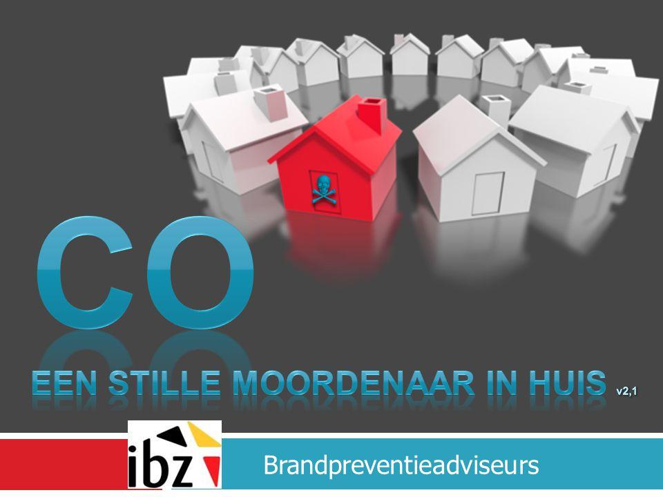 In België wordt er om de 45 minuten een woningbrand gemeld 10.000 woningbranden +100 Doden 1000 slachtoffers 1500 CO intoxicaties 40 doden 1300 slachtoffers