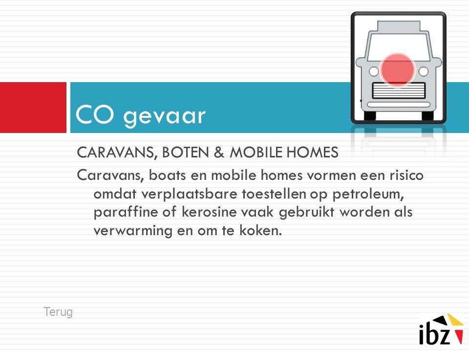 CARAVANS, BOTEN & MOBILE HOMES Caravans, boats en mobile homes vormen een risico omdat verplaatsbare toestellen op petroleum, paraffine of kerosine va