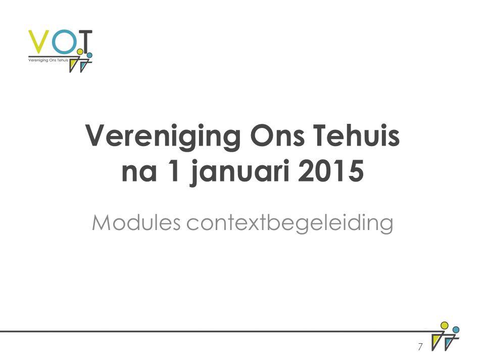 Vereniging Ons Tehuis na 1 januari 2015 Modules contextbegeleiding 7