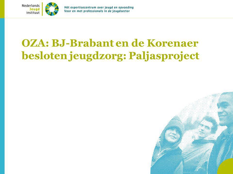 OZA: BJ-Brabant en de Korenaer besloten jeugdzorg: Paljasproject