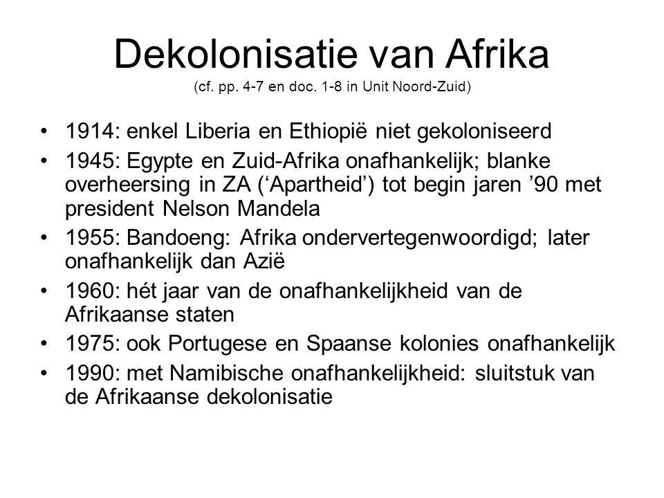 Dekolonisatie van Afrika (cf.pp. 4-7 en doc.
