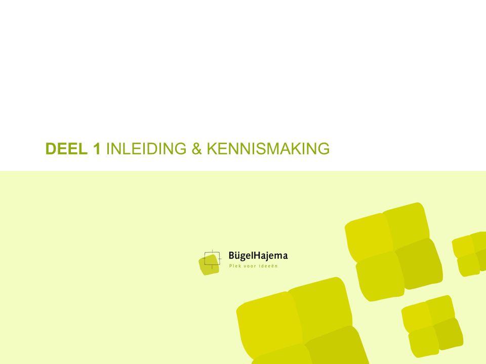 DEEL 1 INLEIDING & KENNISMAKING