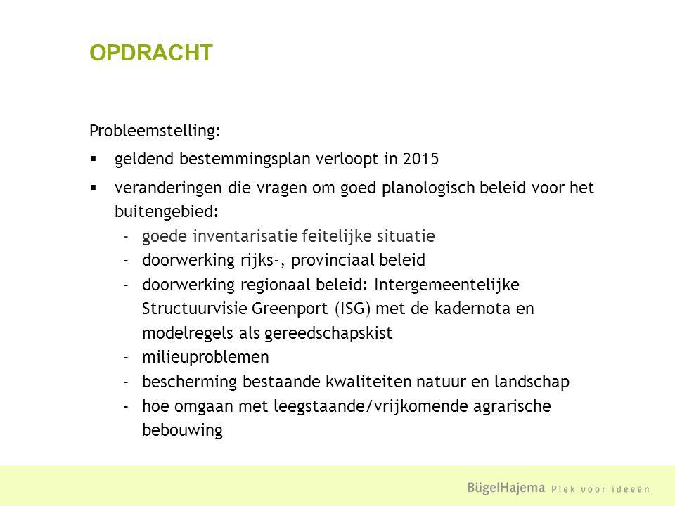 Maak een actueel en digitaal bestemmingsplan Buitengebied Noordwijkerhout Eisen (voorwaarden):  Wro/Bro  digitale eisen  beleid (geldende bestemmingsplannen, provinciale Structuurvisie/-verordening Zuid-Holland, beleid Kadernota, inclusief modelregels)  toepasbaar en uitvoerbaar OPDRACHT