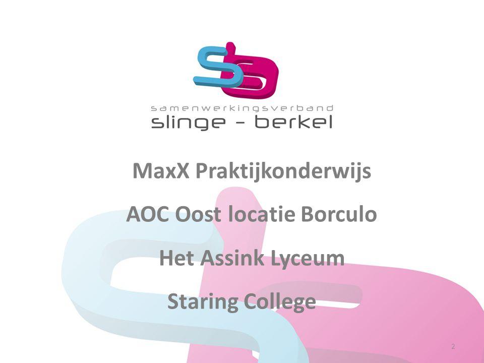 MaxX Praktijkonderwijs AOC Oost locatie Borculo Het Assink Lyceum Staring College 2