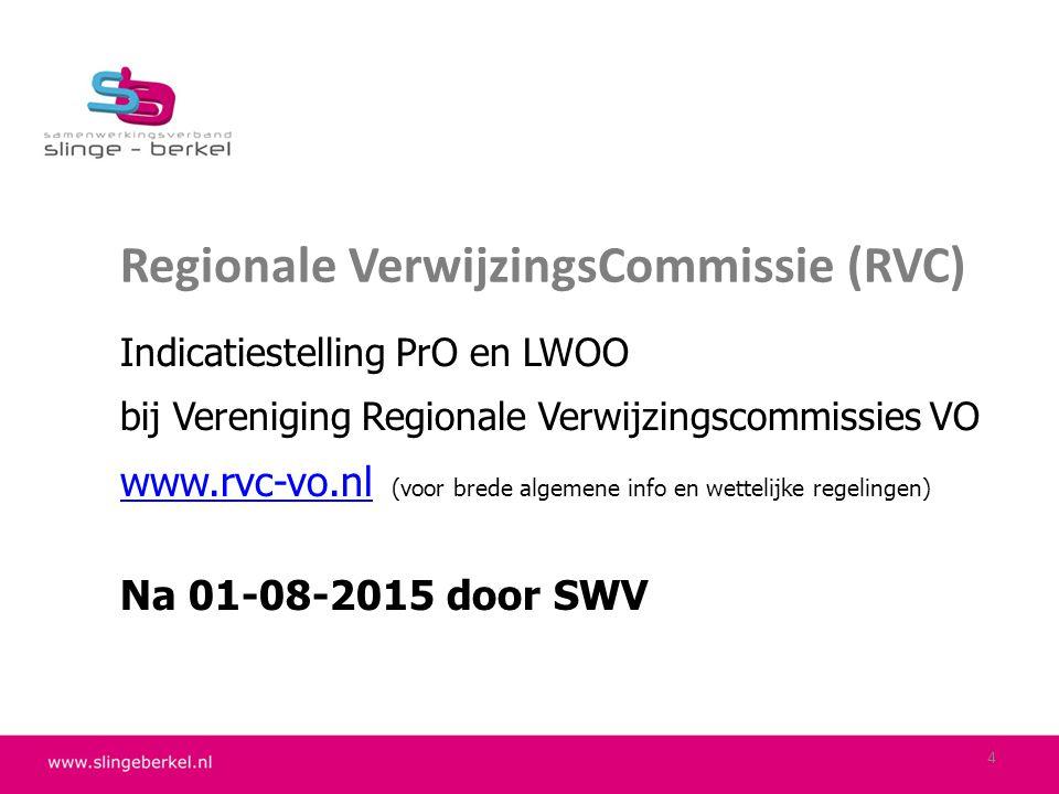 Regionale VerwijzingsCommissie (RVC) Indicatiestelling PrO en LWOO bij Vereniging Regionale Verwijzingscommissies VO www.rvc-vo.nlwww.rvc-vo.nl (voor