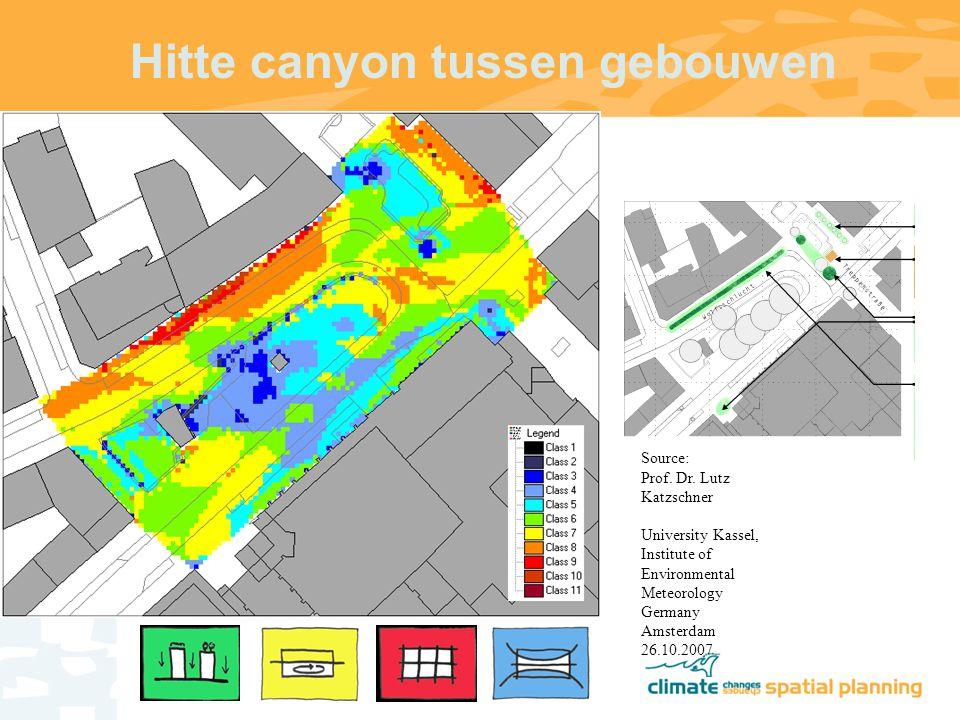 Hitte canyon tussen gebouwen Source: Prof. Dr.