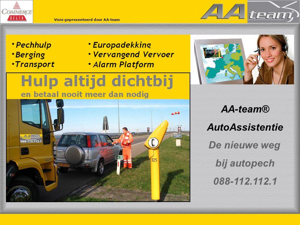 AA-team® AutoAssistentie De nieuwe weg bij autopech 088-112.112.1 Visie gepresenteerd door AA-team