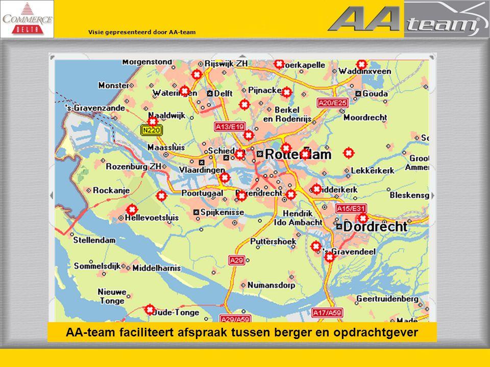 AA-team faciliteert afspraak tussen berger en opdrachtgever Visie gepresenteerd door AA-team