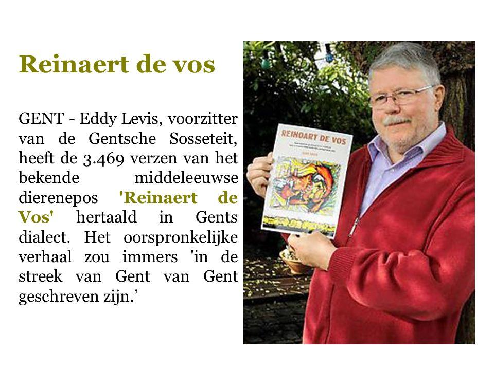GENT - Eddy Levis, voorzitter van de Gentsche Sosseteit, heeft de 3.469 verzen van het bekende middeleeuwse dierenepos 'Reinaert de Vos' hertaald in G