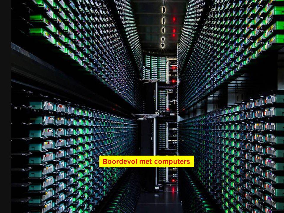 Rijen met servers.